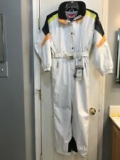 Girl's Marker Ski Snowboarding One Piece Snow Suit Size 16 White New with Tags!