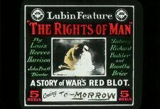 THE RIGHTS OF MAN Vintage 1915 WWI Silent Film LUBIN Movie Glass Slide RED CROSS