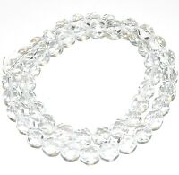 CZ4111 Crystal Clear 8mm Fire-Polished Faceted Round Czech Glass Beads 16""