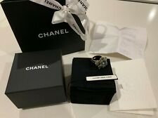 Chanel Costume jewellery ring size 6.5US N full set: receipt, inner/outer box