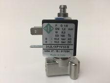 """elettrovalvola 12v 3 vie 1/8"""" acciaio inox 316 normalmente chiusa 31JL1XP1V12-S"""
