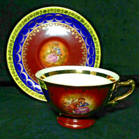 "Fragonard ""Love Story Courting Couple"" Germany Porcelain Tea Cup & Saucer #205"