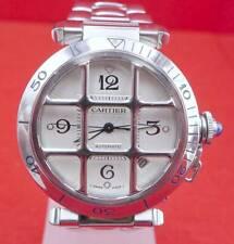 Original Cartier Pasha Grille Unisex Uhr in Edelstahl 2001