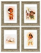 Moana Prints Set of 4 Childrens Bedroom Picture Decor Gift A4 Frameless