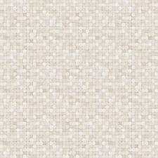 G67415 - Natural FX Beige & Grey Mosaic Tile Effect Galerie Wallpaper