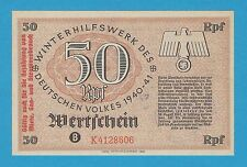 Germany Winterhilfswerk WHW 50 RFP OVPRT 1940-41 S/B-Kroll 391 Block K As Issued