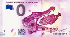 BILLET 0 EURO SOUVENIR TOURISTIQUE GRAND AQUARIUM DE TOURAINE 2018