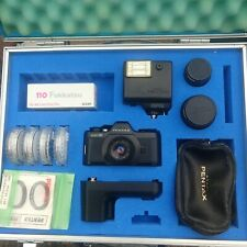New ListingPentax-110 Camera & Storage Case accessories Metal 3 Lens Set Flash & Film Too!