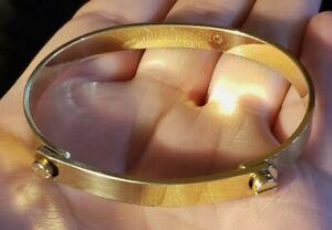 Rare 1976 Aldo Cipullo Friendship Bracelet 18K Electroplate Love Charles Revson