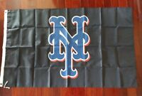 New York Mets 3x5 Black Flag. US seller. Free shipping within the US!!!