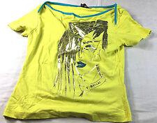 TuttaBella bright yellow pullover blouse, size M
