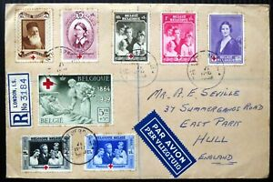 BELGIUM 1939 Red Cross (8) on Registered Cover with Toning As Described DG644