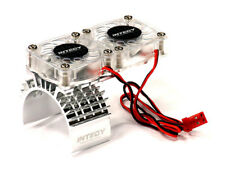 Integy Alum Billet Motor Heatsink w/ Twin Cooling Fan for Traxxas 1/10 Slash 4X4