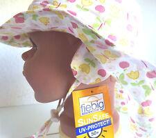 UVSchutz KU46 47 48 49 Nackenschutz Ohrenklappen Sommer Sonnen Hut Mädchen rosa