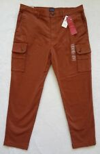 Levis Slim Tapered Cargo Pants Mens Size 38x32 Brown Stretch