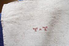 Nappe N°42 ancienne en chanvre  150 x 112 cm liteaux  état neuf