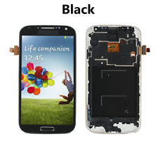 LCD Display Touch Screen Glass Digitizer +Frame Fr Samsung Galaxy S4 i9505 Black