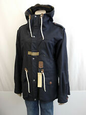 GARBSTORE for CLOSED Parka Long Jacke Gr.S 38-40 Coat Jackett Blau Kapuze