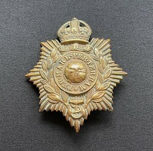 King's Crown Royal Marines Helmet Plate x 100% Original Cap Badge