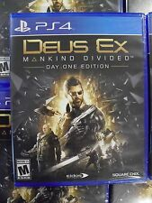 Deus Ex: Mankind Divided -- Day One Edition (Sony PlayStation 4, 2016) PS4