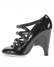 CHANEL Multi Buckle Patent Leather Heels