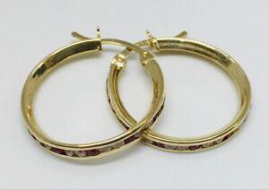 White Stone Gold-Stone Earrings 14K Yellow Gold 0.8dwt (WLJ002054)