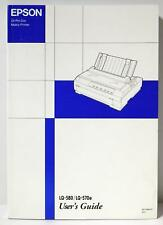 EPSON LQ-580/LQ-570e User's Guide 24-Pin Dot Matrix Printer Date 1999