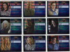 Supergirl Season 1 Complete Rainbow Foil Character Chase Card Set CB1-9