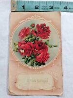 Vintage Happy Birthday Rose Postcard ~ Ships FREE