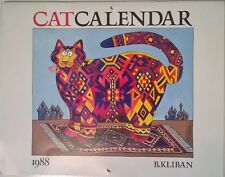 RARE Collectable B Kliban Cat Calendar 1988 or 2016 or 2044 Cats Kitties Kittehs