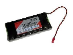 Senderakku für diverse Modelle, 9.6V1000mAh BEC Buchse flach form...