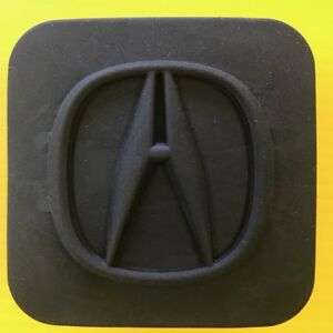 """2"""" ACURA (rounded logo) Trailer Hitch Receiver Cover Plug"""
