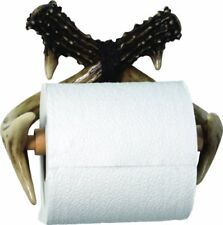 NEW Rivers Edge Unique Poly Resin Design Deer Antler Toilet Paper Holder