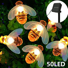 Solar Powered 50 LED String Light Bee Shape Garden Path Yard Decor Lamp Outdoor