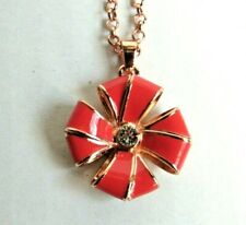 Ted Baker London Coral Flower Shaped Necklace Rose Gold Faux Bling $85.0