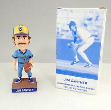 2007 Milwaukee Brewers Jim Gantner Powder Blue Bobblehead In Box