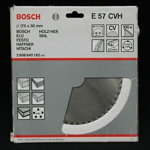 Bosch E57CVH 170mm x 30mm 100T CV Circular Saw Blade for Wood. Made in the UK