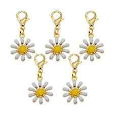 12pcs Semi-product Dangle Daisy Pendants Alloy Jewelry Accessories Necklace DIY
