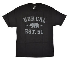 Nor Cal SOPHOMORE Mens 100% Cotton Short Sleeve T-Shirt Small Black NEW