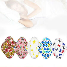 6pcs Cloth Menstrual Pad Sanitary Bamboo Reusable Sanitary Panty Liners Nursing