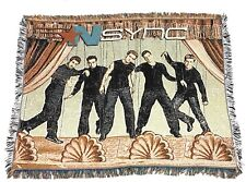 Vintage NSYNC Throw Knit Woven Tapestry Blanket No Strings Attached Puppets