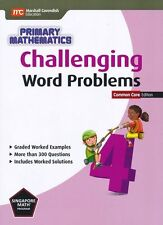 Singapore Math Primary Math Challenging Word Problems 4-FREE Expedited UPGD W$45