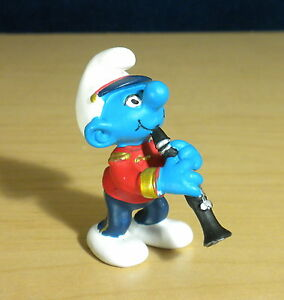 Smurfs 20486 Clarinet Smurf Marching Band Vintage PVC Figure Music Toy Figurine