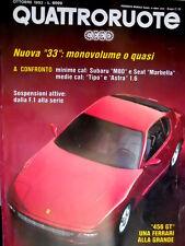 Quattroruote 444 1992 Grande la Ferrari 456. Subaru M80 vs Seat Marbella [Q102]