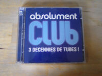 album 2 cd absolument club 3 decennies de tubes