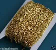 45ft of Gold Plated Flat Cable Chain 2mm x 3mm