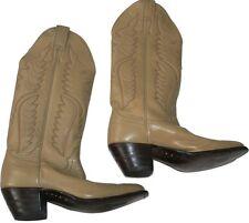 NEW Vintage JUSTIN Cowboy Western Boots bone Women's 5.5 A Narrow ladies tan