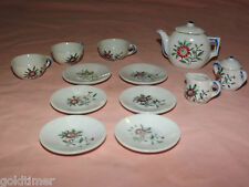 VINTAGE  MADE IN JAPAN MINI  CERAMIIC TEA SET DISHES CUPS KETTLE