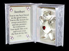 Sweetheart Birthday Anniversary personalised gift by Cellini poem Unusual