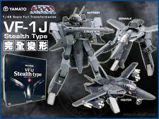 Macross / Robotech Yamato 1/48 VF-1J Stealth (Black & Grey)
